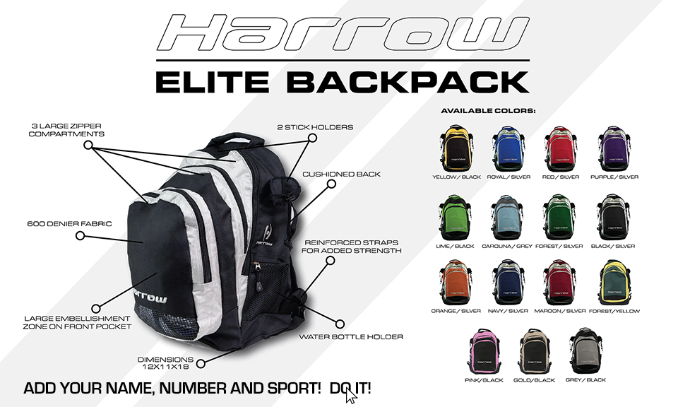 Harrow Sports Elite Backpack