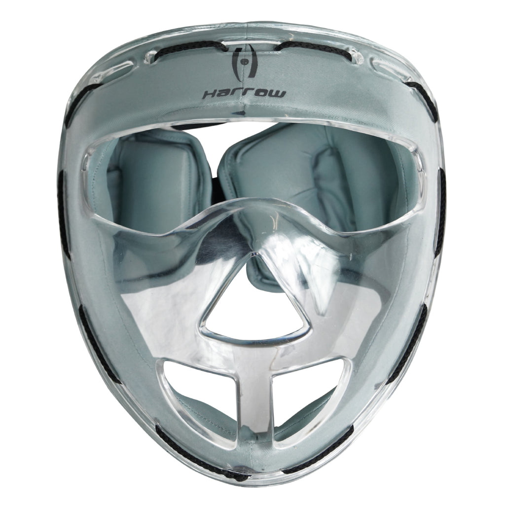 Clear Face Mask, Grey Padding - Harrow Sports
