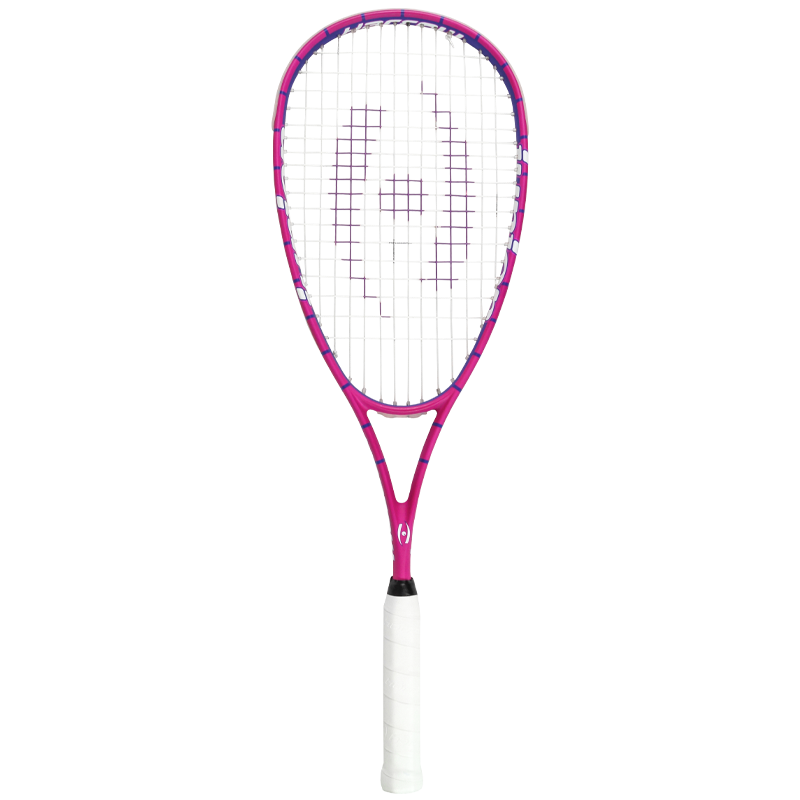 Junior Squash Racquet - Pink/Purple - Half Cover - Harrow Sports