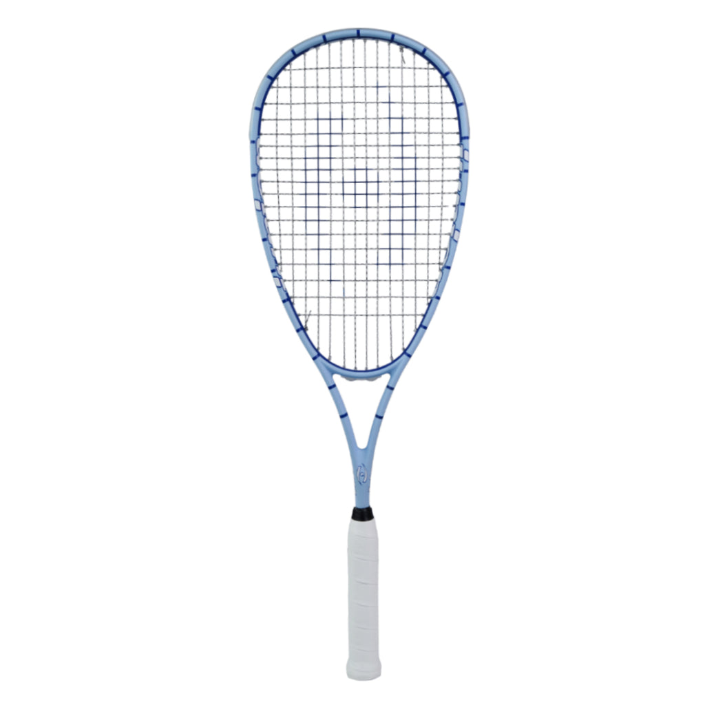 Junior Squash Racquet - CarolinaBlue/Royal Blue - Half Cover - Harrow Sports
