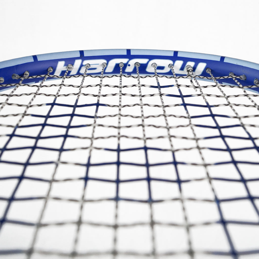Junior Squash Racquet, with 1/2 Cover, CarolinaBlue/Navy Blue