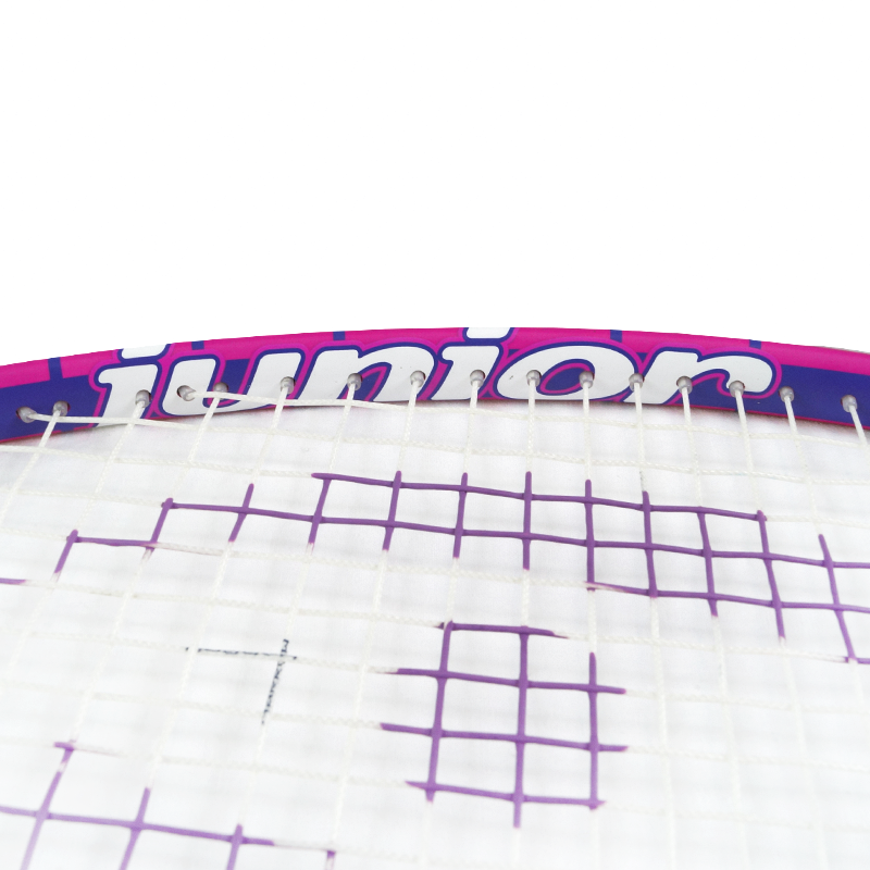 NEW Junior Squash Racquet, with 1/2 Cover, Pink/Purple