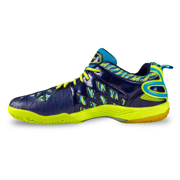 Typhoon Indoor Court Shoe - Navy Lime - Harrow Sports