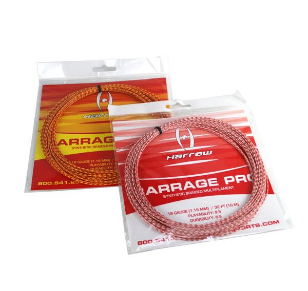 Barrage Pro Squash String, 18 Gauge, Single Pack - Harrow Sports