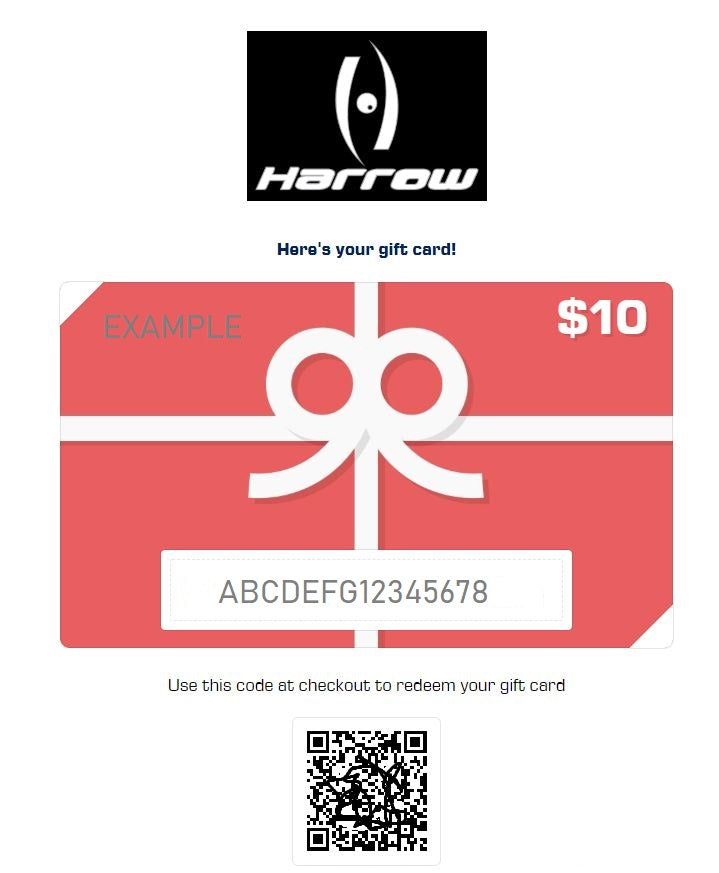 Harrow E-Gift Cards - Harrow Sports