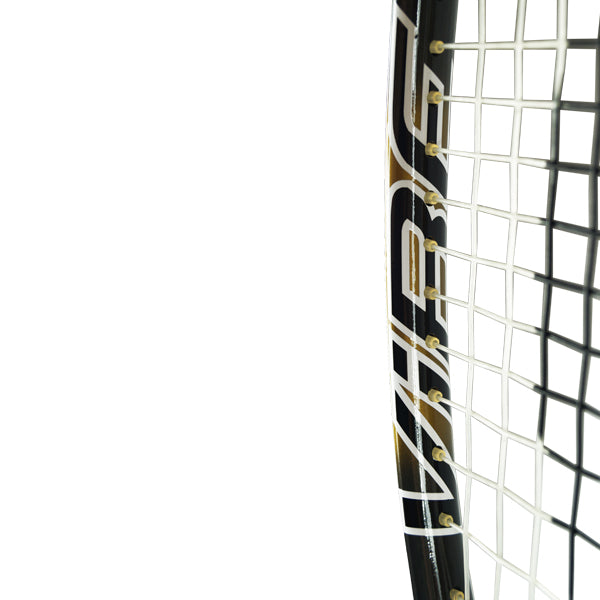 Harrow Vibe Squash Racquet - Karim Abdel Gawad Custom - Black/Vegas Gold - Harrow Sports