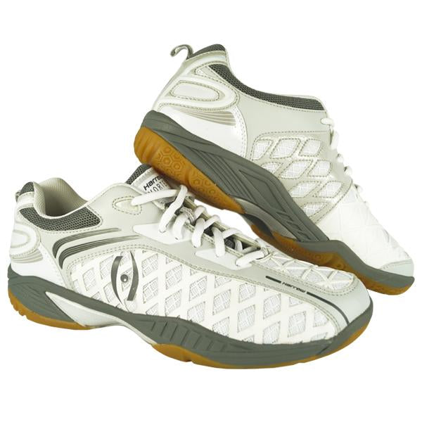 Vortex Court Shoe - White / Grey - Harrow Sports