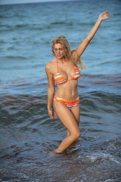 47 Throwback Multicolor Striped Bikini