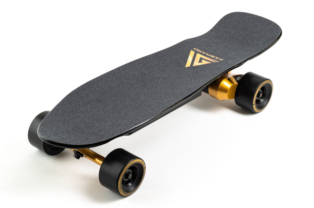 Faboard Gold Version 2 Dual Belt Affordable Light Electric Skateboard with swappable battery