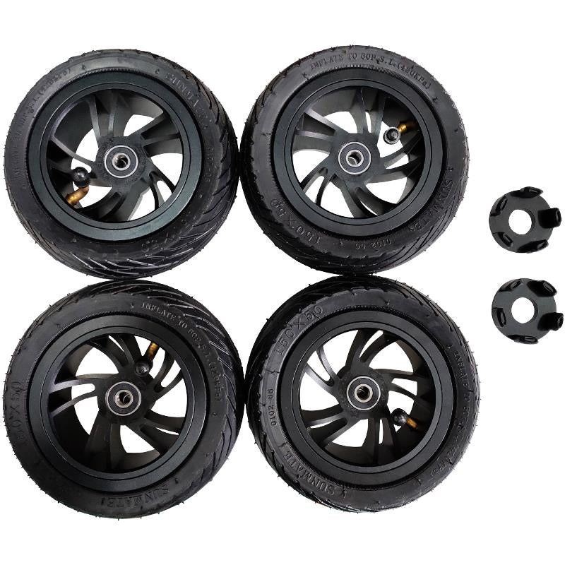 Free Shipping 4 New 155mm Air Wheels compatible with Direct Drive Motors with adaptor - ridefaboard