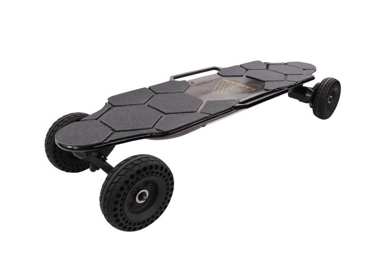 [US Inventory] Faboard Black Rover Dual Belt All-Terrain Electric Skateboard