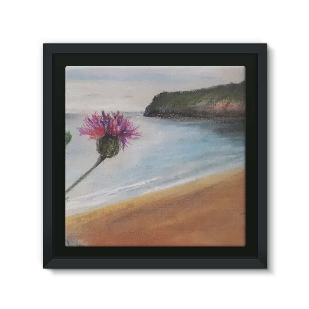 Barafundle Beach, Pembrokeshire Framed Canvas