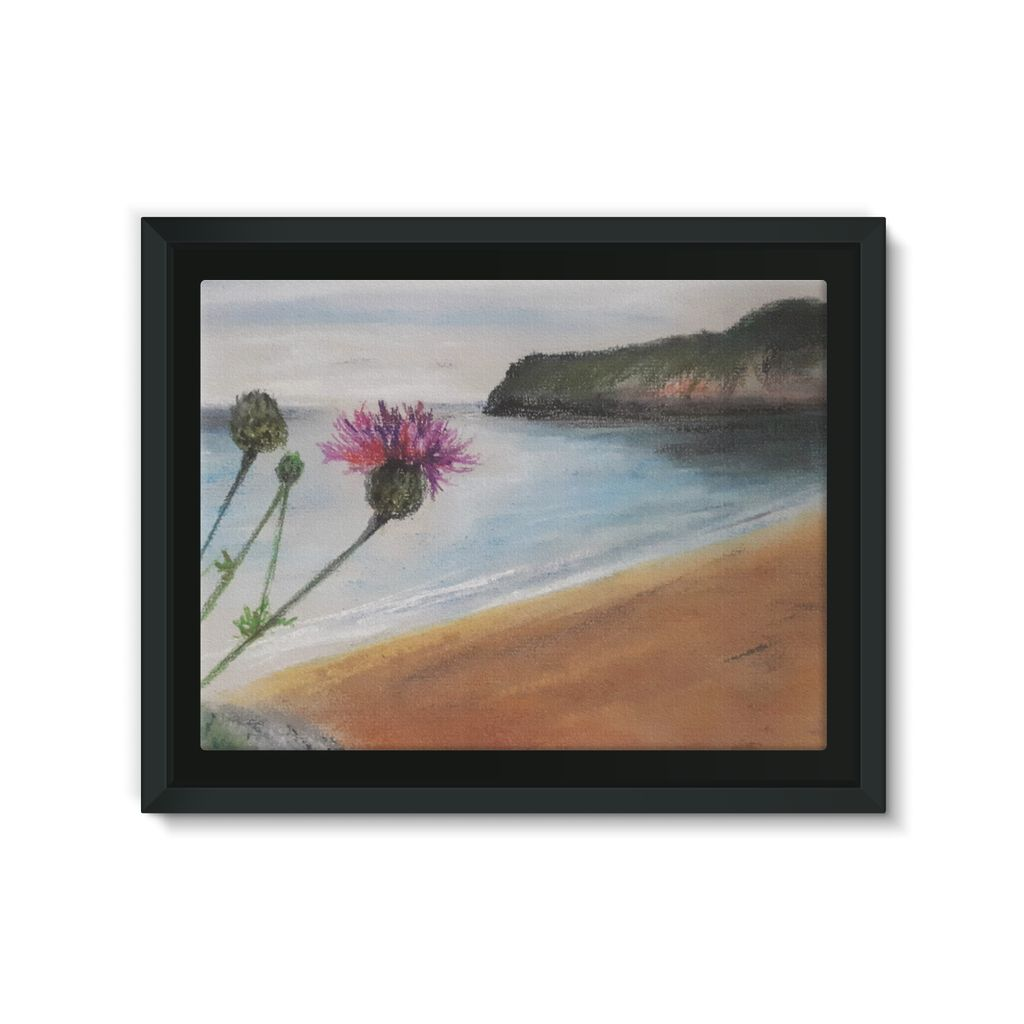 Barafundle Beach, Pembrokeshire Framed Canvas Lite