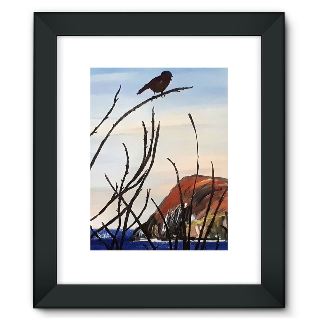 View of Dinas Head Framed Fine Art Print