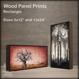 Wood Panel Print Rectangle Collection Image
