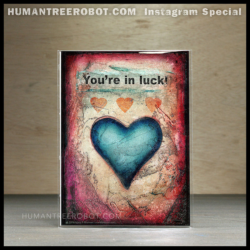 IG-0018 - Instagram Special - 5x7 Borderless Prints 4 Piece Set - Hearts And Headlines