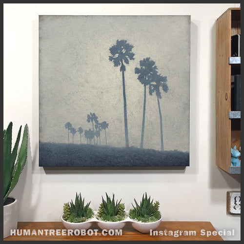 "IG-0047 - Instagram Special - Original Oil Painting - 24x24 Inch ""Haze 2"""
