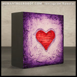 IG-0026 - Instagram Special - 4x4 Original Oil Painting - Heart Series - Purple / Red