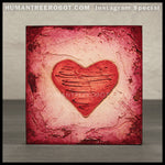 IG-0030 - Instagram Special - 4x4 Original Oil Painting - Heart Series - Red / Red