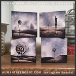 IG-0052 - 5x5 Wood Panel Prints - LIMITED SIZE - 4pc Gear Flower Set