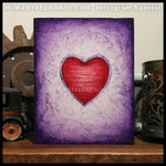 IG-0036 - Instagram Special - 8x10 Original Oil Painting - Heart Series - Red / Purple