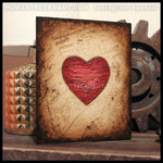 IG-0038 - Instagram Special - 8x10 Original Oil Painting - Heart Series - Red / Brown