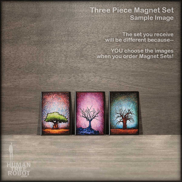 Magnet Set - 3 Magnets - Choose Your Own Images