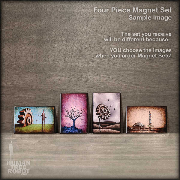Magnet Set - 4 Magnets - Choose Your Own Images