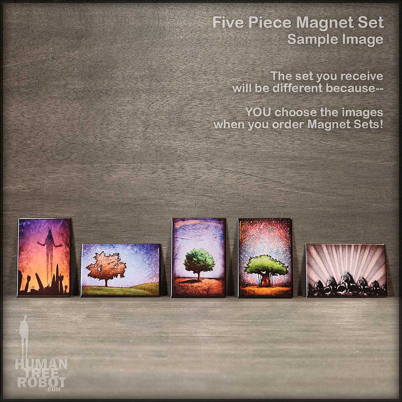 Magnet Set - 5 Magnets - Choose Your Own Images