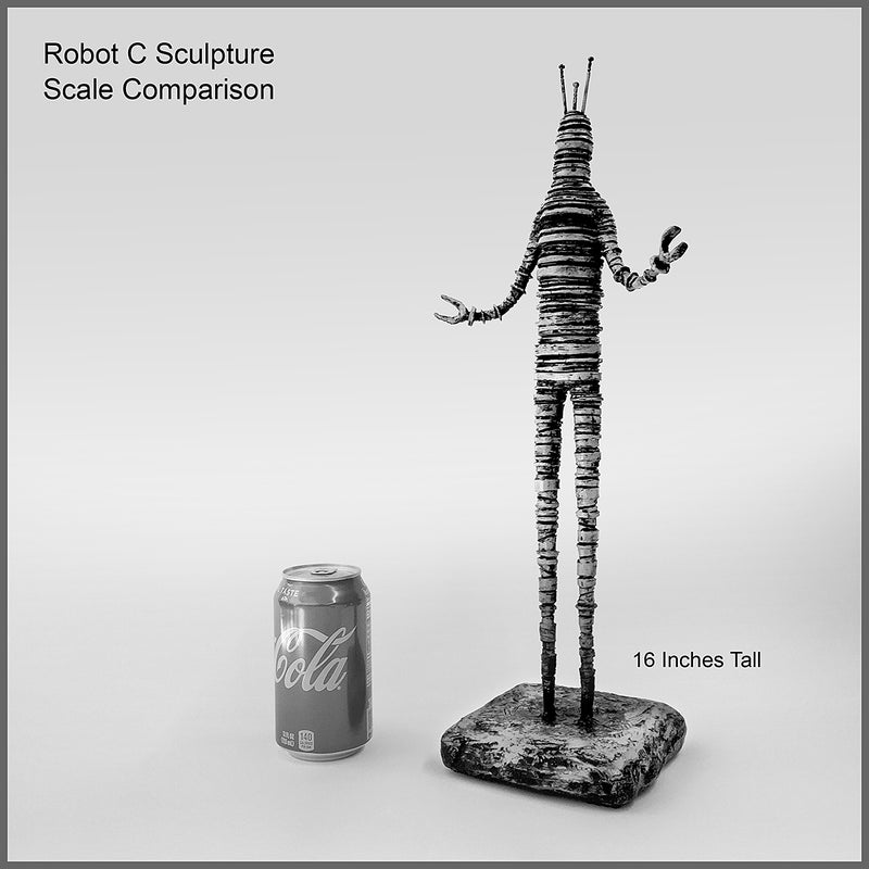 Sculpture: Robot C: 07 Red Wash