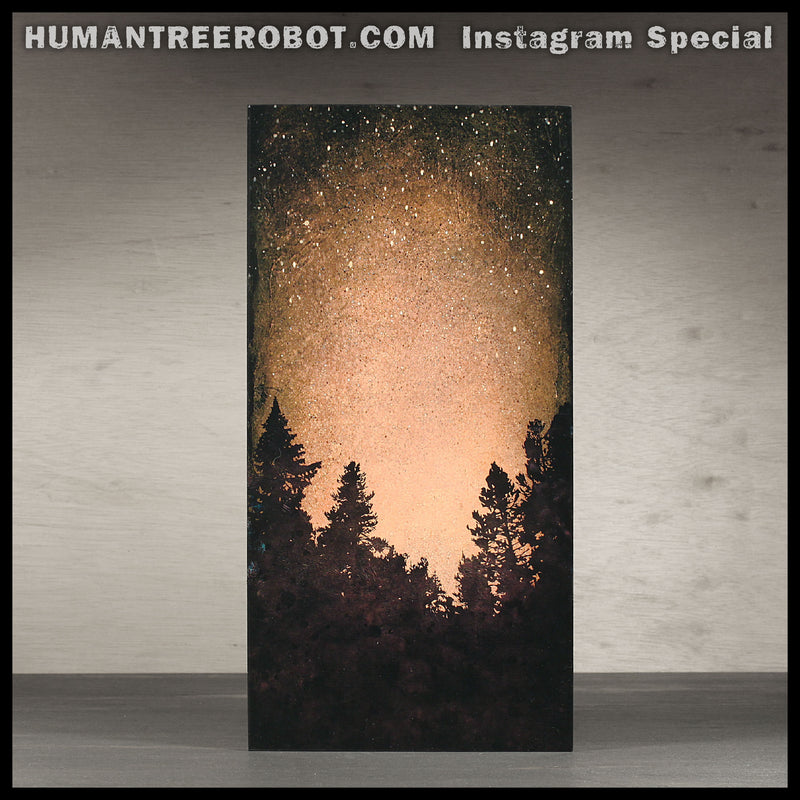 IG-0013 - Instagram Special - 12x6 Inch Wood Panel Print - Tree Line 03, Brown