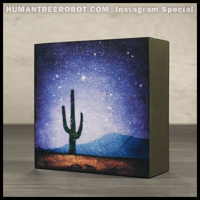 IG-0009 - Instagram Special - 4x4 Wood Panel Print - 4 Piece Set - Desert Imagery