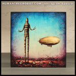 Instagram Special - 6x6 Wood Panel Print - RobotC and Airship