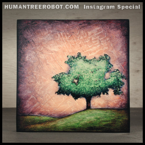 IG-0006 - Instagram Special - 8x8 Wood Panel Print - Hill Tree
