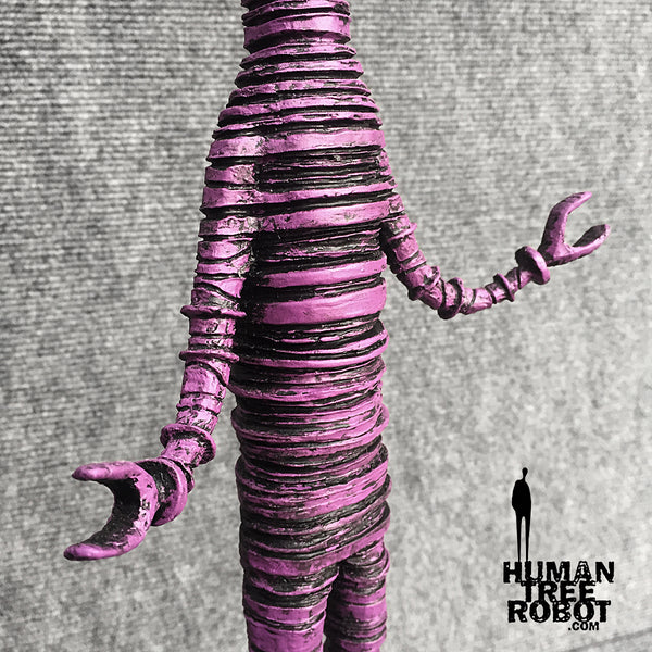 Sculpture: Robot C: 11 Magenta Wash