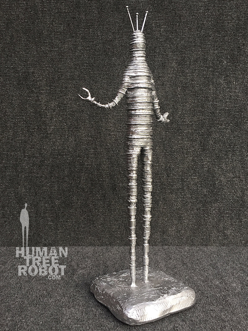 Sculpture: Robot C: 05 Bright Silver