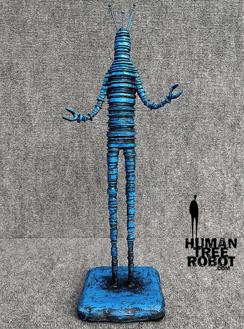 Sculpture: Robot C: 08 Blue Wash
