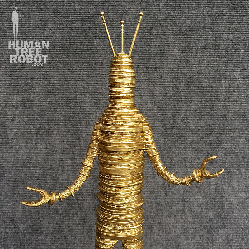 Sculpture: Robot C: 03 Bright Gold
