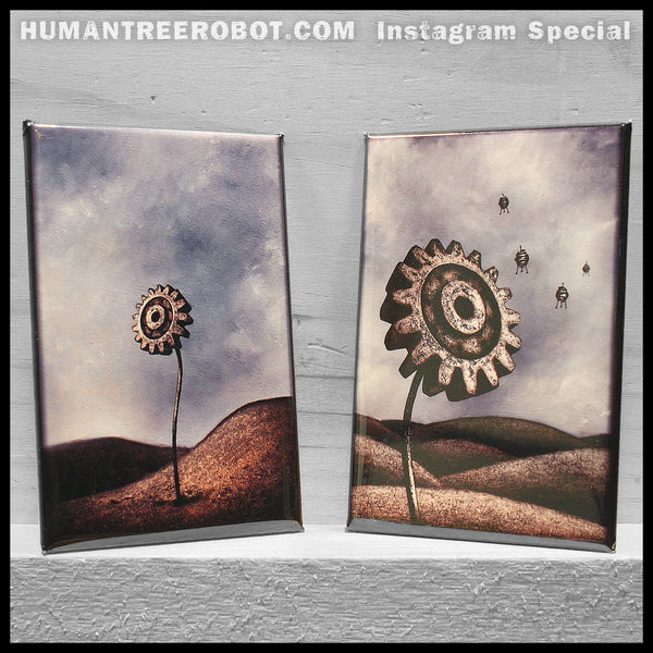 Instagram Special - 8 Piece Magnet Set - Gear Flowers