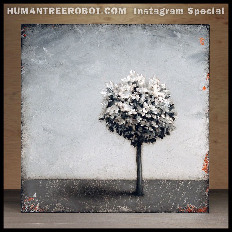 "IG-0004 - Instagram Special - Original Painting - ""Shadow Tree"""
