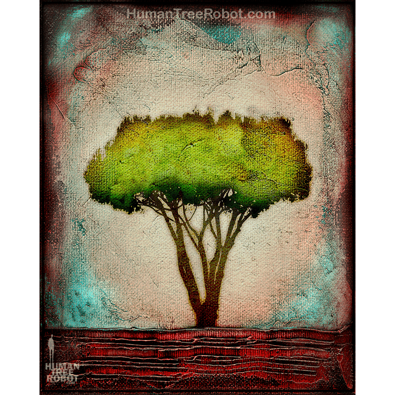 0070 Borderless Print - Horizon - Neighborhood Tree