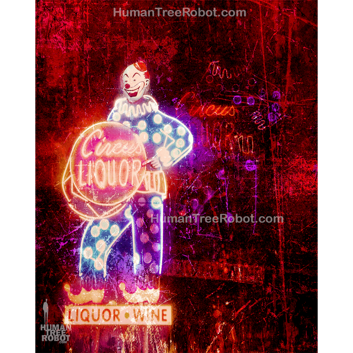 5024 Borderless Print - Architecture - Los Angeles - Circus Liquor Sign