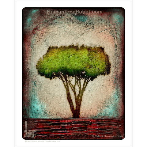"0070 Matte Paper Print 8x10"" - Neighborhood Tree"