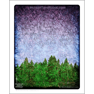 "0071 Matte Paper Print 8x10"" - Tree Line 01 - Purple Green"