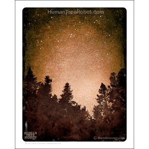 "0073 Matte Paper Print 8x10"" - Tree Line 03 - Brown"
