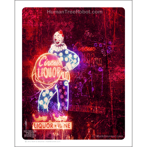 "5024 - Matte Paper Print 8x10"" - Los Angeles - Circus Liquor Sign"