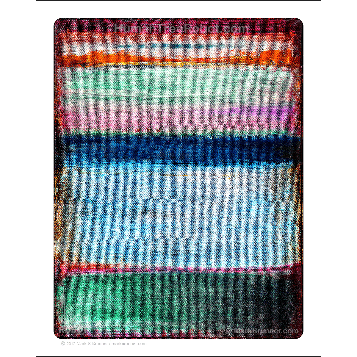 "8012 - Matte Paper Print 8x10"" - Abstract - Colors 01 - Blue"