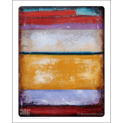 "8013 - Matte Paper Print 8x10"" - Abstract - Colors 02 - Orange"