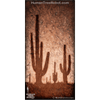 0075 Wood Panel Rectangle - Horizon - Desert Cactus 01 - Brown