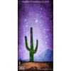 0076 Wood Panel Rectangle - Horizon - Desert Cactus 02 - Purple